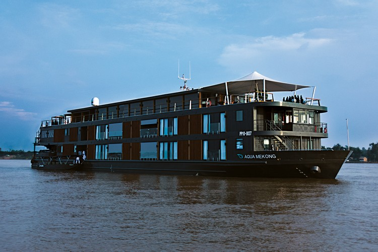 2 Aqua Mekong Luxury River Cruise Boat, Mekong River by Noor