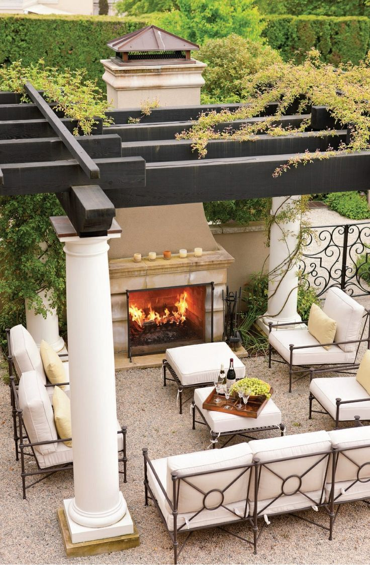 TOP 12 STUNNING FIREPLACES FOR LUXURY OUTDOOR LIVING ... on Exclusive Outdoor Living id=74613
