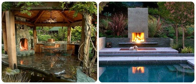 stunning luxury exterior fireplaces14