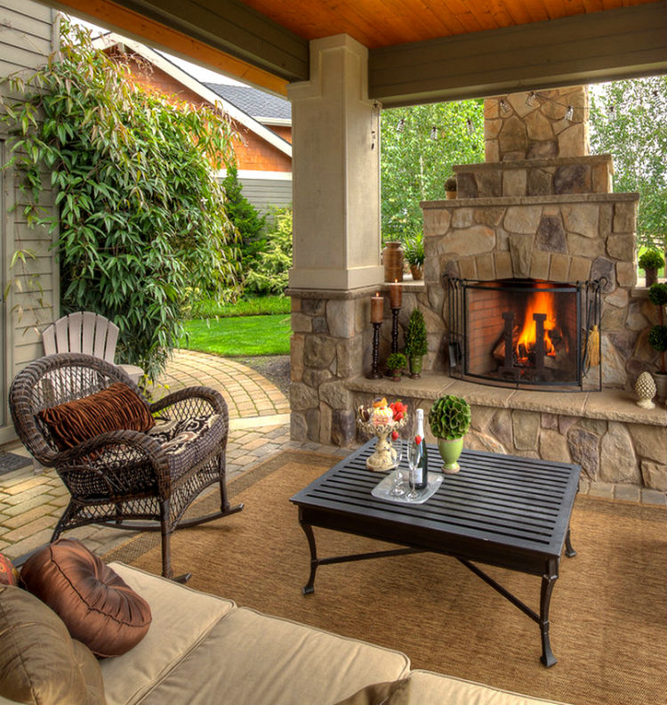 TOP 12 STUNNING FIREPLACES FOR LUXURY OUTDOOR LIVING ... on Backyard Outdoor Living Spaces id=24278