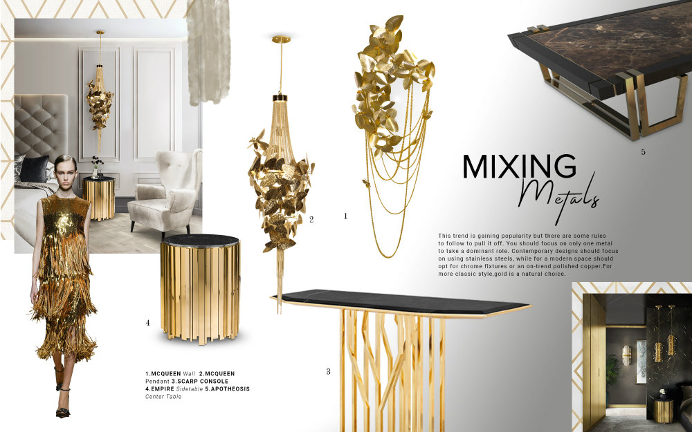 How To Use Mixed Metals In A Luxury Décor